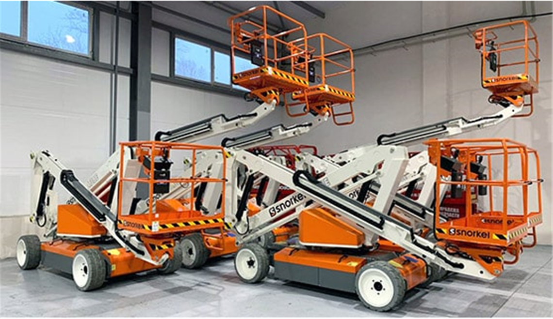 Snorkel's A38E electric articulated boom lift model